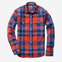 Fieldhouse Flannel - Orange Granite Plaid
