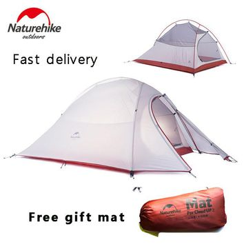 NatureHike 2 Person Tent Uultralight 20D Silicone Fabric Double-layer Camping Outdoor Tent