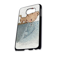 cat kissing fish Samsung Galaxy S6 Case