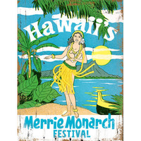 Personalized Hawaii Festival Wood Sign