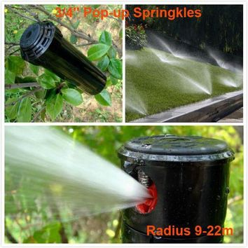 ONETOW Radius 9-22M Pop-up Sprinkler 3/4' Female Thread For Garden Supplies And Lawn Irrigation Angle Adjustable Sprinklers Gear Drive