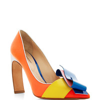 Roksanda Color Block Curved Heel Pump