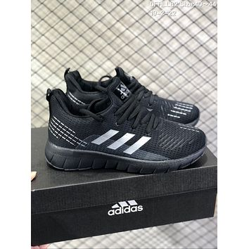 DCCK A594 Adidas Superstar II Mesh Brethable Running Shoes Black