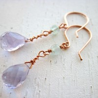 Amethyst and Aquamarine Earrings of Serenity and Closure