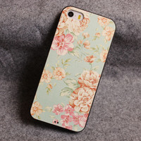 Fresh Flower Relief Silicone Soft Iphone Cases For 5/5S