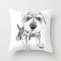 Schnozz Throw Pillow by Beth Thompson | Society6