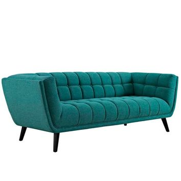 Bestow Upholstered Fabric Sofa, Teal -Modway