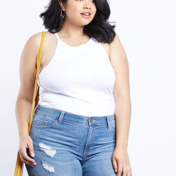 Plus Size Alexis High Neck Top