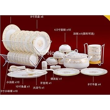 ceram plates 56pcs porcelain sunshine kitchen utensil set dinnerware set bone china dishes dish fancy plates and bowlsset