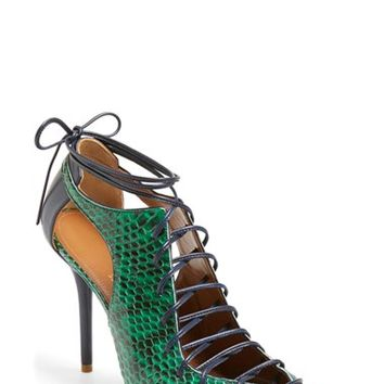Women's Malone Souliers 'Montana' Lace-Up Pointy Toe Pump,