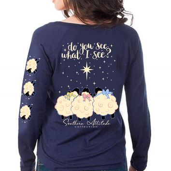 Southern Attitude Preppy Do You See Holiday Long Sleeve T-Shirt