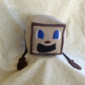 "NEW! Tiny Box Tim Plushie! Plush Toy. 4.5"" cube, Pillow. Markiplier Youtuber."