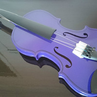 Student Acoustic Violin Full 4/4 Maple Spruce with Case Bow Rosin Voilin Purple