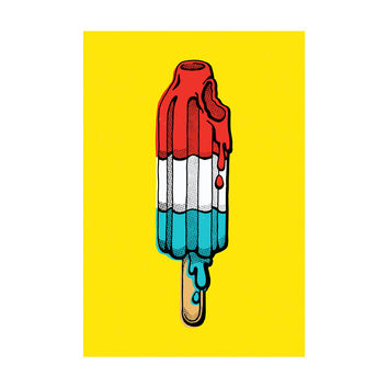Rocket Pop Adhesive Art Print