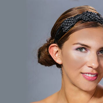 Black headband, black bow headband, headband, hairbands