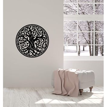 Vinyl Wall Decal Celtic Tree Branches Irish Art Room Home Interior Stickers Mural (ig5917)