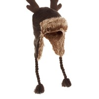 ASOS Trapper Hat with Reindeer Horns
