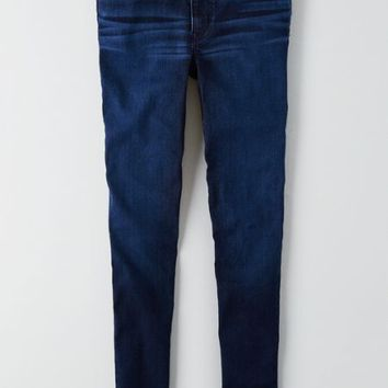 AEO Women's Denim X Cafe Hi-rise Jegging (Dark Cappu-jean-o)