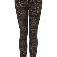 Paisley Lace Leggings - Pants & Leggings  - Apparel