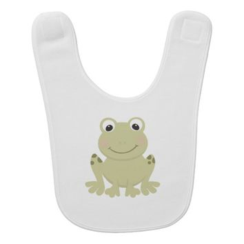 Cute Cartoon Frog Baby Bib