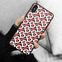 BURBERRY Stylish iPhone Phone Cover Case For iphone 6 6s 6plus 6s-plus 7 7plus iPhone X XR XS XS MAX 2#