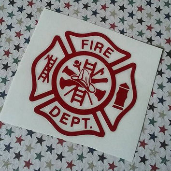Firefighter Decal   Firefighter Badge Decal   Fireman Decal   Firehouse Decal   Truck Decal   Firefighter Car Decal   Fireman Badge Decal