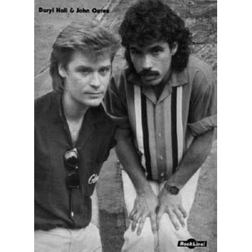 Hall And Oates poster Metal Sign Wall Art 8in x 12in Black and White