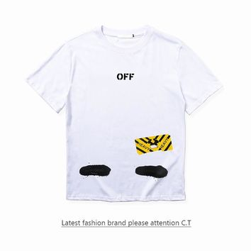 Cheap Women's and men's OFF-WHITE t shirt for sale 85902898_0187