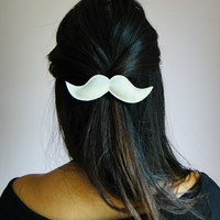 Moustache Hair Clips by yummypocket on Etsy