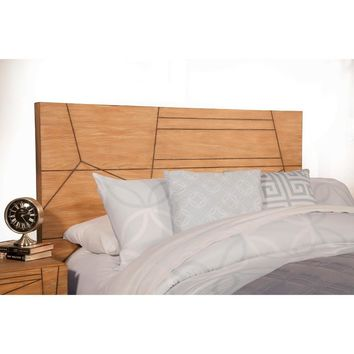 Sophisticatedly Designed Queen Headboard In Mahogany Wood Brown