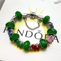 Pandora Women Fashion Crystal Plated Bracelet Jewelry