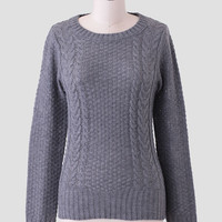 Willow Creek Knit Sweater In Charcoal