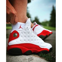 AIR JORDAN AJ 13 new couple sports basketball shoes Red