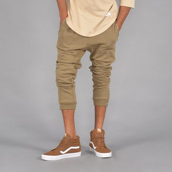 Lux Knit Jogger Pants w/ Zipper Pocket (Hemp)