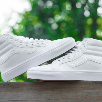 Vans CUSTOMIZE Customs Sk8-Hi All White ZY-041 Sneaker Casual Shoes