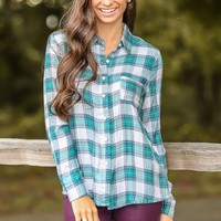 As Time Goes On Plaid Blouse