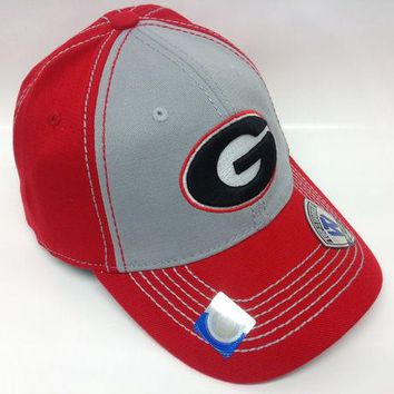 ONETOW NCAA Georgia Bulldogs Logo Red/Grey One-Fit Hat