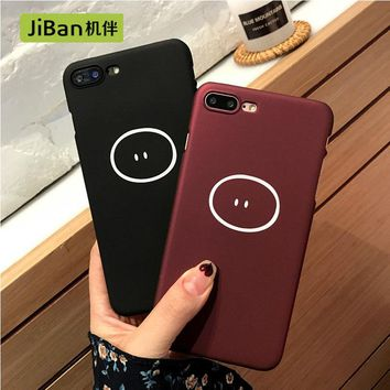 JiBan Simple and cute pig nose mobile phone shell for iPhone 7plus / 6 / 6s case slim men and women models