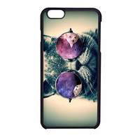 Smart Cats With Galaxy Nebula On Glass Eye iPhone 6 Case