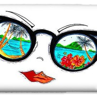 Tropical Cat Eyes Sunglass Reflection Aroon Melane 2015 Collection by MADART iPhone 6 Case
