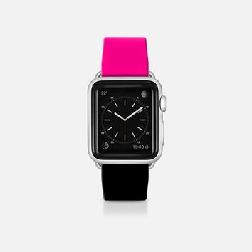 Pink and black  - Bicolor collection Apple Watch Band (38mm)  by WAMDESIGN | Casetify