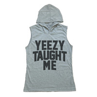 Kanye West Yeezy Taught Me Shirt Hoodie Muscle Tank Top Tshirt Women T-Shirts Size S M
