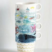 Nautical Door's Always Ocean Mug Set by ModCloth