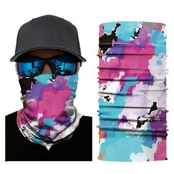 Motorcycle Face Mask Helmet Seamless Scarf Skiing Headband Balaclava Face Mask Sport Face Shield Masks Outdoor Ride Bandanas