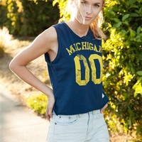 University of Michigan Crop Top | SportyThreads.com