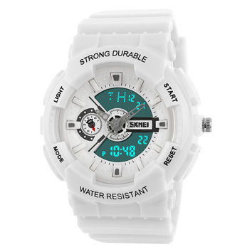Men Style Digital Analog LED Watch Sport Military Wristwatches Shock Black Watches