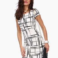 Over The Line Pencil Dress