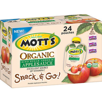 Mott's Organic Applesauce Pouches, 24 ct./3.2 oz. - BJ's Wholesale Club