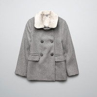 THREE QUARTER LENGTH COAT WITH FUR COLLAR - Coats - Girl (2-14 years) - Kids - ZARA United States