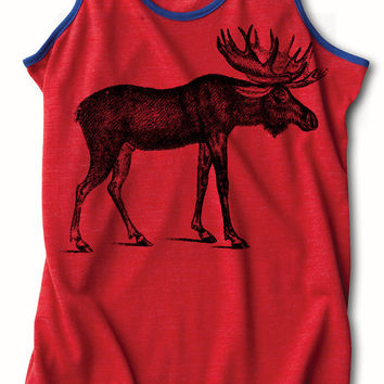 Womens MOOSE Racerback Tank Top for yoga S M L XL